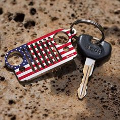Jeep American Flag Grille Key Chain Grille KeyChain
