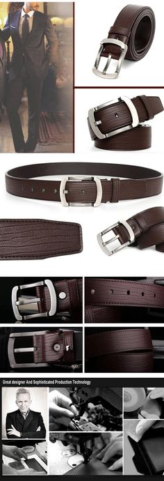 Aliexpress.com : Buy 2016 High Quality Fashion Genuine Leather Men Belts Solid Cowskin Men Belt Cinto Masculino Belt Male Ceinture Man Mb001 from Reliable leather htc suppliers on YanYang International Company Ltd. Waist Belts, Hemp Bracelets, Leather Men, High Fashion, Men Casual, Stuff To Buy, Men's Belts, Men Accessories, Suits