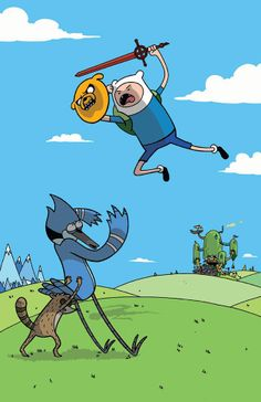 Adventure Time vs. Regular Show by Vernon Smith