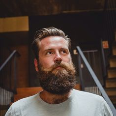 very full thick bushy beard and big mustache beards bearded man men bearding hairy handsome #beardsforever