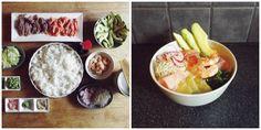 Sushi bowls toppings