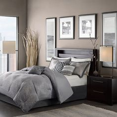 Quinn Gray Seven-Piece California King Comforter Set - (In No Image Available)