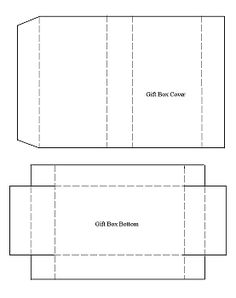 template for recycled Christmas card gift box