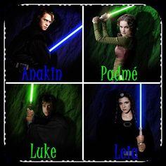 Anakin , Padme , Luke y Leia Skywalker - dannuu_deciudade - Fotolog