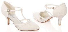 #LosZapatosdetuBoda #GWesterleigh  Zapatos de Novia T-Bar modelo Jasmine de G. Westerleigh