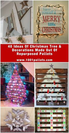 40 Ideas Of Christmas Tree & Decorations Made Out Of Repurposed Pallets | 1001 Pallets ideas ! | Scoop.it
