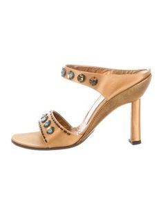 Prada Satin Slide Sandals