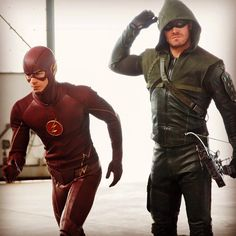 Check out the video from our cover shoot with #TheFlash's @grantgust & #Arrow's @amellywood http://youtu.be/INSY-l2-my0