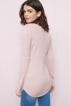 Gotta have that cozy - Semi-Fitted Sweater Tunic Top