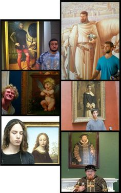 """Not all Tudor portraits, but still amazing... """"That awkward moment when you find yourself in a portrait at a museum..."""""""