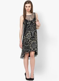 Buy Miss Selfridge Black Colored Embellished Asymmetric Dress Online - 4253355 - Jabong Best Online Fashion Stores, Online Shopping Sites, Lakme Fashion Week, Buy Shoes, Asymmetrical Dress, Shoe Brands, Miss Selfridge, India, Clothes