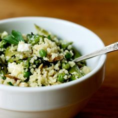 Spring Couscous with Asparagus, Peas and Mint   Top 20 Organic Budget Food Recipes   Budget-Friendly Family Recipes   Food   Disney Family.com