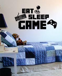 Eat Sleep Game Version 3 Gamer Decal Sticker Wall Vinyl Art Decor