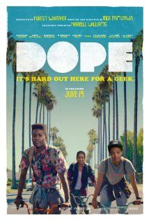 """Dope - It's about your nasty life in the ghetto: drugs, an easy woman, name calling, going to jail, living the party life, always looking for a good time, """"Lily"""" (lol) and the Boy's Club. But the winner is the one who outfoxes the 'sleek' man with the beard by accessing passwords and being the BEST writer. N! ;-) Opens June 19th."""