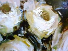 White Roses (detail) by Nicole Pletts
