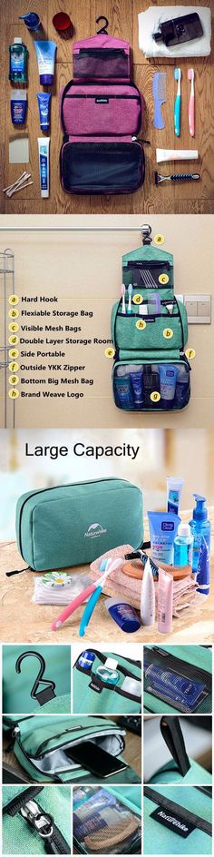 US$14.73 Woman Man Naturehike Waterproof Wash Bags_ Portable Travel Bags_ Outdoor Cosmetic Storage Bag