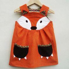 Cute fox dress for a girl