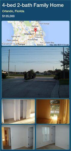 4-bed 2-bath Family Home in Orlando, Florida ►$135,000 #PropertyForSaleFlorida http://florida-magic.com/properties/27504-family-home-for-sale-in-orlando-florida-with-4-bedroom-2-bathroom