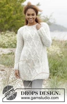 Diamond Bliss jumper by DROPS Design. Free knitting pattern