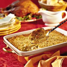Southern Living Cornbread Dressing - - Deliciously moist and perfectly seasoned, this five-star recipe really has no rivals. It does take a little extra time to prepare cornbread dressing from scratch, but it's definitely worth th…. Thanksgiving Dinner Sides, Thanksgiving Recipes, Holiday Recipes, Holiday Foods, Thanksgiving Dressing, Thanksgiving Stuffing, Holiday Dinner, Christmas Desserts, Fall Recipes