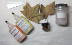 leaves with mica, float fire and glassline paint