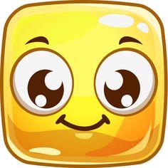 Cheery Square Emoticon