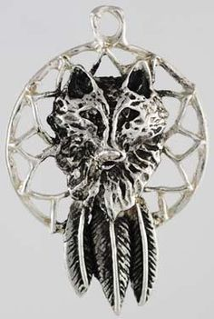 #pagan #wicca #witchcraft #celtic #druid #tarot Wolf Dream Catcher Amulet $5.95