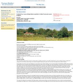 Business For sale  Freehold Four Luxury Holiday Rental Log Cabins in Dalby Forest plus owners bungalow Ref.AC325 Location Dalby Forest North Yorkshire Asking Price £ 1,250,000 RupertCattell TurnerButler we sell business Rupert Cattell Businesses for sale Turner Butler Testimonial Successful Business Broker Selling your business wesellbusiness sellingyourbusiness Businessforsale turnerbutler Wesellbusiness