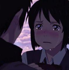 Your name ( Kimi no nawa )��������� ( Kimi No Na Wa Wallpaper, Cute Anime Wallpaper, Your Name Wallpaper, Anime Music Videos, Anime Songs, Otaku Anime, Anime Girl Crying, Your Name Anime, Avatar The Last Airbender Art