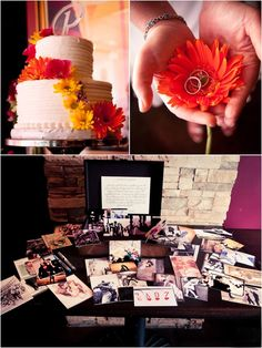 Instead of a guest book we made guest cards.  A mix of LOVE related photos including pictures of our parents.  Each guest picked a card and shared their wishes and advice on the back.  We keep the cards in a wooden box and add our own love notes to it.   It helps us remember the day, the people, and the love we are so lucky to have.