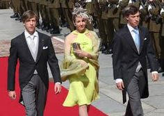 Prince Sebastien, Princess Tessy, and Prince Louis of Luxembourg