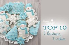#COOKIE CONNECTION ALERT: Top 10 Christmas Cookies in this week's Saturday Spotlight. COOKIES AND PHOTO BY COOKIES ON CAMBRIDGE.