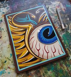 ~Flying eye ~👁~ by Sign Atelier Leipzig GER. Graffiti Art, Ed Roth Art, Tattoo Studio Interior, Pinstripe Art, Alien Drawings, Lowrider Art, Pinstriping Designs, Cars Coloring Pages, Garage Art