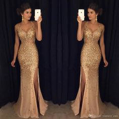 Slit dress prom - Sexy Long Crystal Beaded Prom Dress With Slit Mermaid Prom Dresses Evening Gown 125 from Fashiondressess – Slit dress prom Backless Mermaid Prom Dresses, Beaded Prom Dress, Mermaid Evening Dresses, Formal Evening Dresses, Formal Prom, Dress Formal, Dress Prom, Formal Wear, Bling Dress