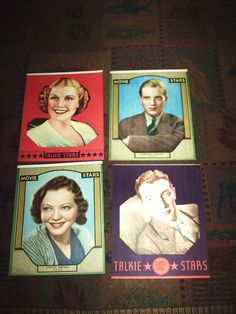 4 Vintage Lithograph Movie star 8 X 10 pictures last round !!