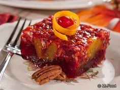 Cranberry Relish Squares | mrfood.com