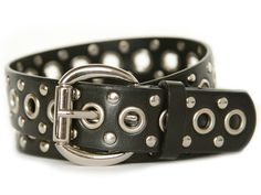 Nickel Free Black Studded Belt - Attitude without the rash!