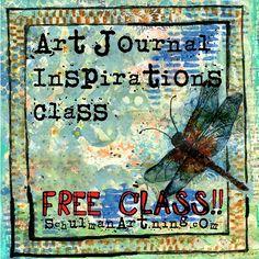 free online classes | online art classes | art journal ideas |  get inspired on http://schulmanart.ning.com/group/art-journal-inspiration