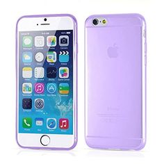 IPhone 6 Plus Case,Partiss Crystal Clear Case,Ultra Slim Durable Flexible Case,Soft TPU Case,5.5 Case Bumper Cover Shock,One size,Purple 2# Partiss