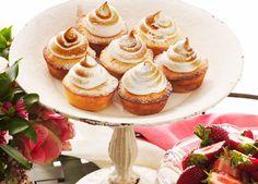 Australian Gourmet Traveller recipe for little lime meringue cakes.