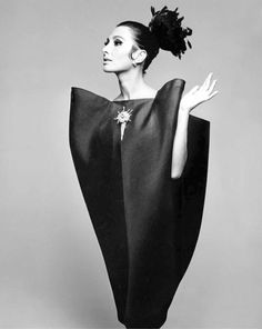 Audrey Hepburn in Balenciaga, 1960's.
