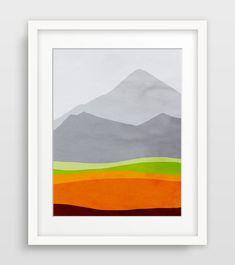 Orange Abstract I