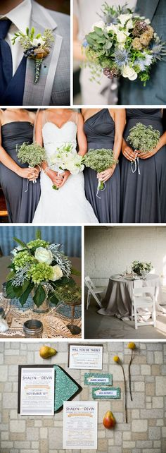 i thought it was blue, but it's a really pretty color - | grey and green weddings Autumn Destination Wedding Ideas