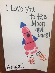rocket ship footprint diy mothers day crafts for grandma diy gifts for
