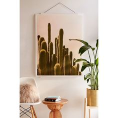 Wilder California Golden Hour Cactus Art Print ($19) ❤ liked on Polyvore featuring home, home decor, wall art, cactus home decor, spring wall art, cactus wall art, landscape wall art and photo wall art