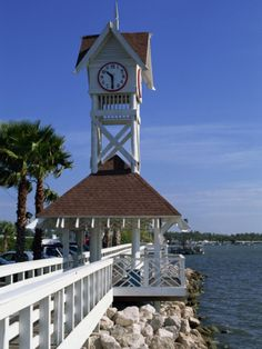 Pier and Clock, Bradenton Beach, Anna Maria Island, Florida, USA Sisters Weekend Sept 2013 Bradenton Florida, Florida Usa, Florida Vacation, Florida Travel, Florida Beaches, America Images, Anna Maria Island, I Love The Beach, Island Beach