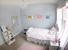Momma's Gone City Daughter's Room - love this sweet big girl room!