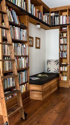 Home Library Design, Dream Home Design, My Dream Home, House Design, Cozy Home Library, Library Bedroom, Home Library Rooms, Library Ideas, Home Libraries