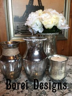 "Hometalk :: DIY: Transform Plain Glass Containers Into Embellished ""Mercury"" Glass"