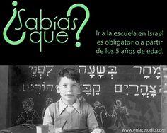 #SabiasQue ir a la escuela en #Israel es obligatorio a partir de los 5 años de edad